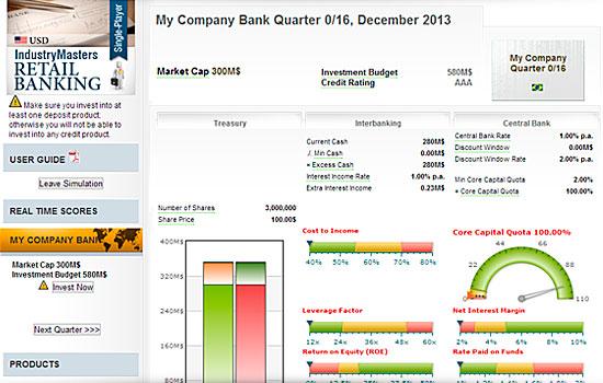 Cимулятор бизнеса IndustryMasters: Розничные банковские услуги
